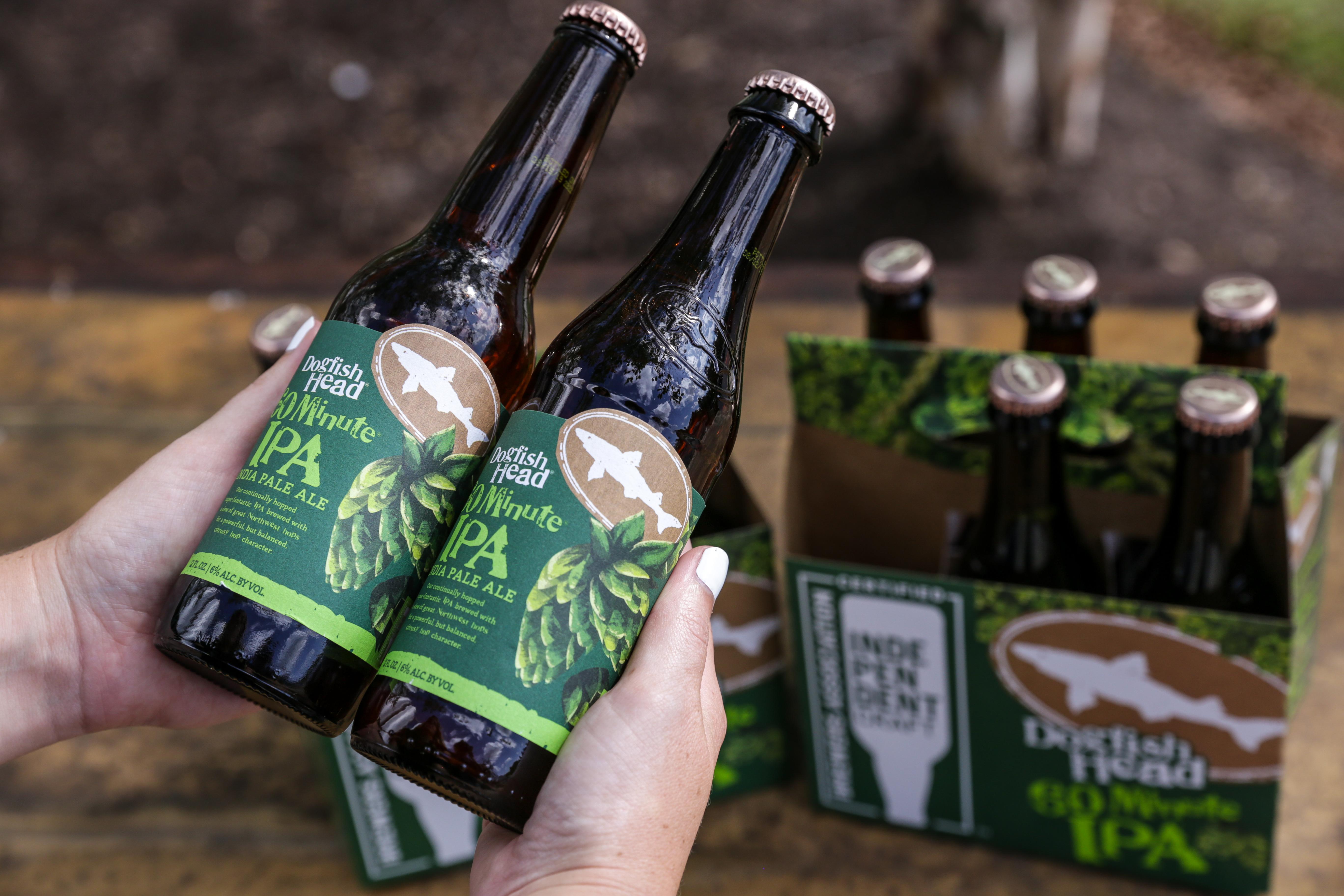 Dogfish Temporarily Packaging In Non-Shark Embossed Bottles