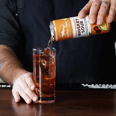 Cherry Bergamot Whiskey Sour