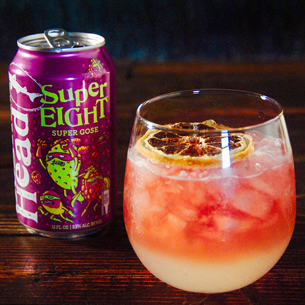SuperBramble beer cocktail WITH Compelling Gin, SuperEIGHT