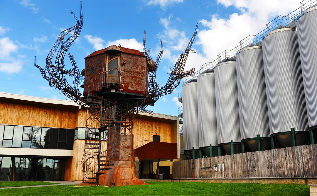 When You Pull Up To Dogfish Head In Milton DE Just Might Notice Our Off Centered Retro Futuristic Sculpture The Steampunk Tree House