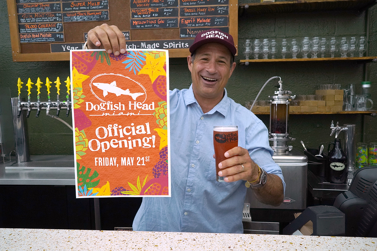 Sam Calagione Dogfish Head Miam Opening Poster