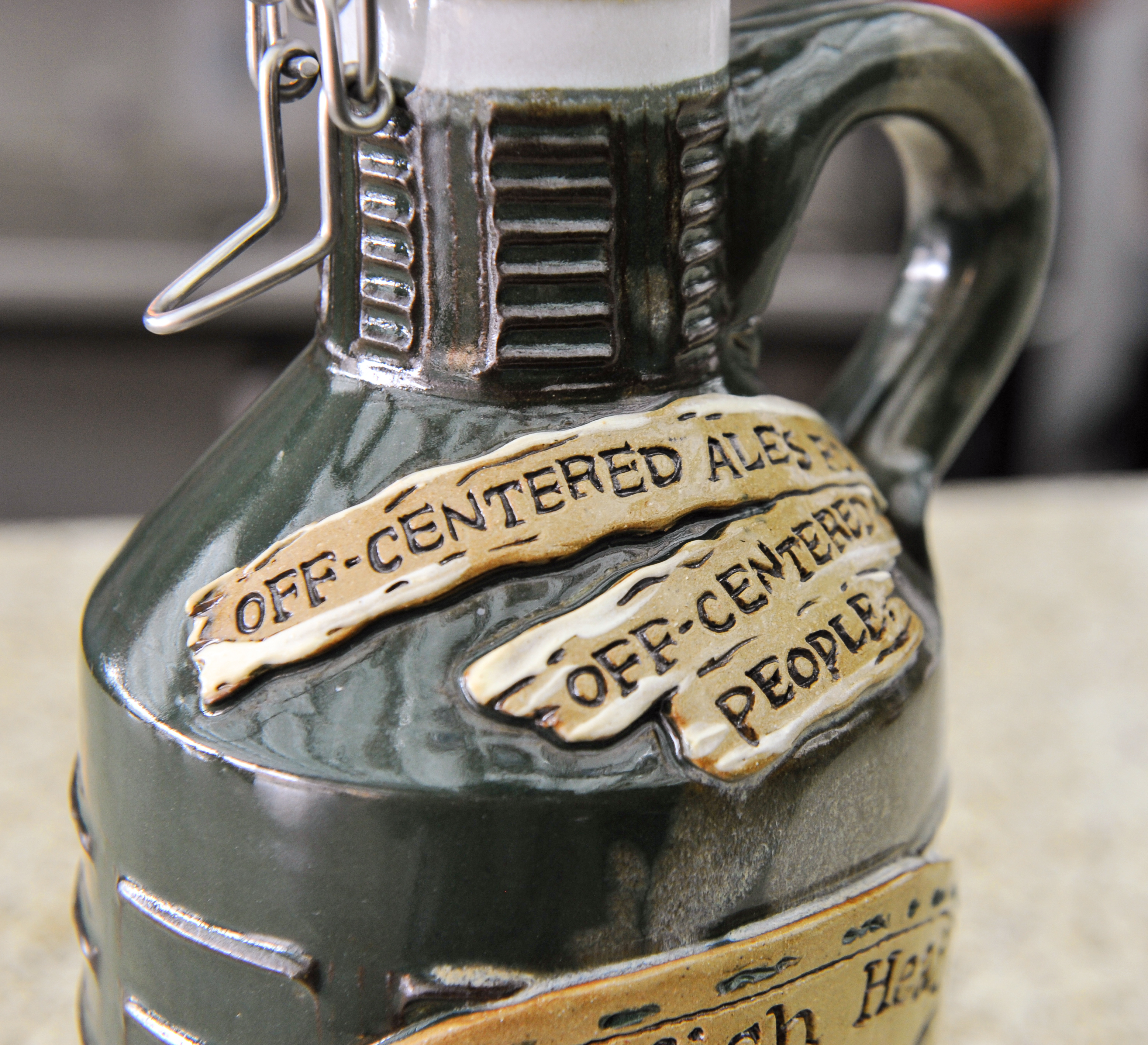 Green Ceramic Growler 2