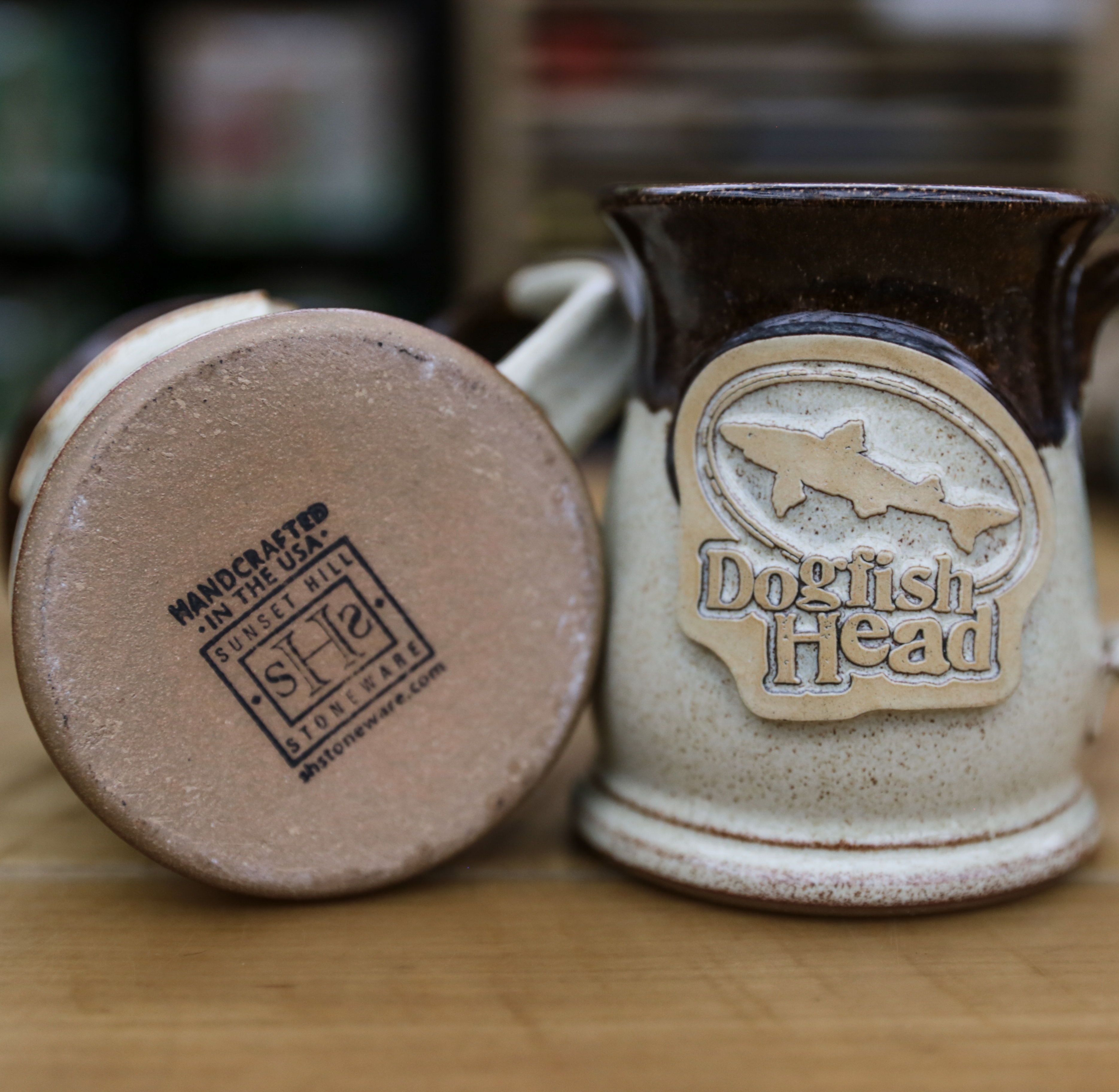 Tan Stoneware Mug 2