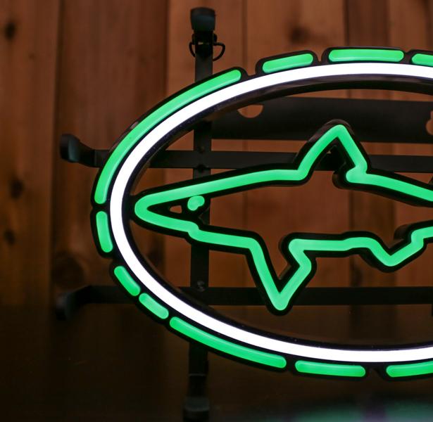Small LED Shark and Shield Sign