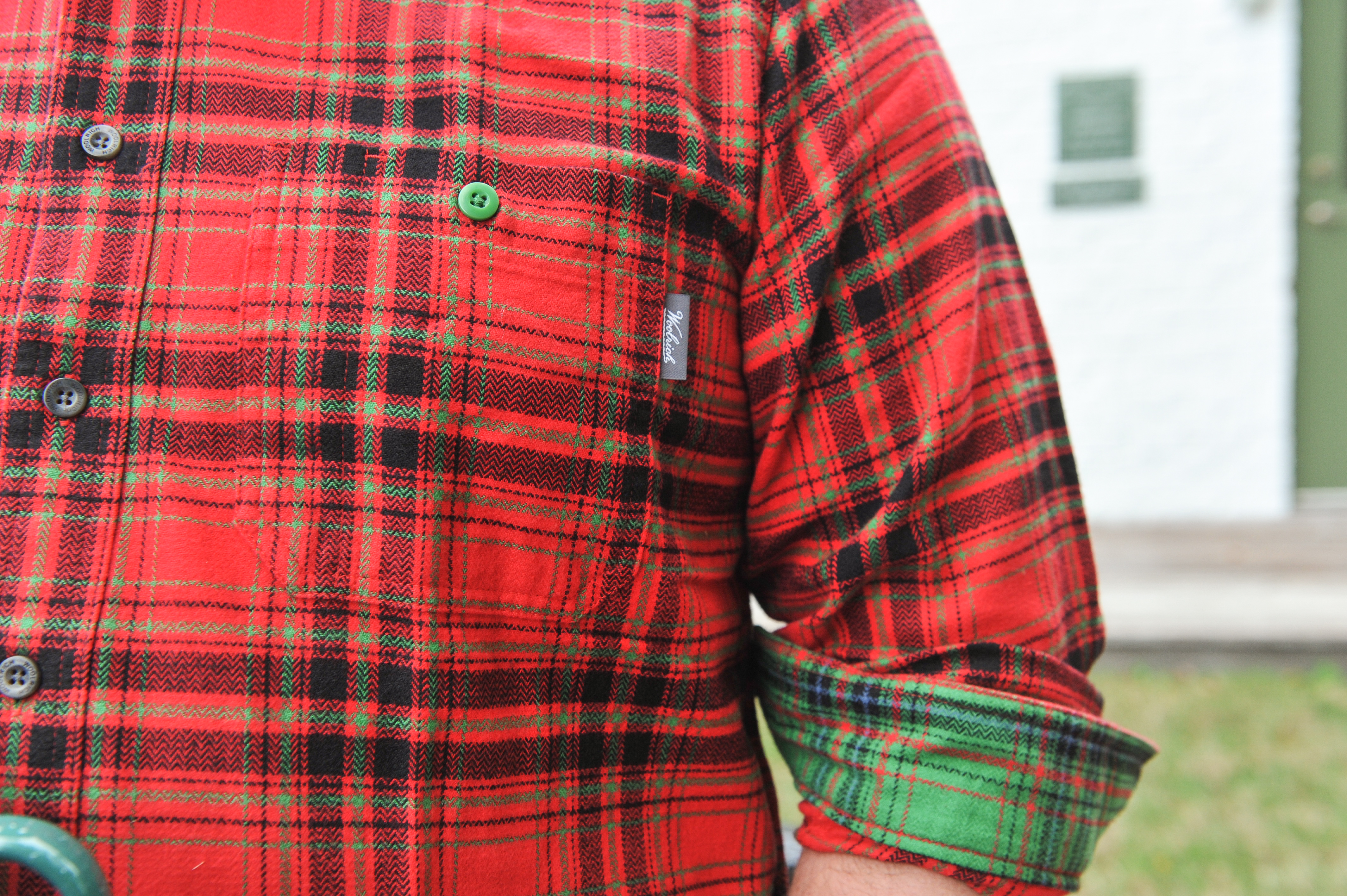 Mens Woolrich Red Flannel Shirt