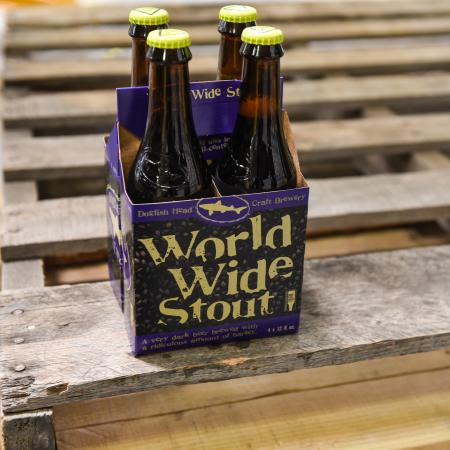 World Wide Stout sitting on pallet