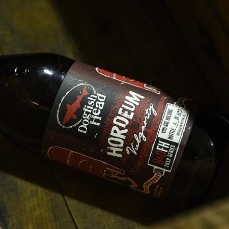 Dogfish Head Hordeum Vulgarity Barleywine bottle