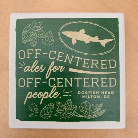 Off-centered ales coaster