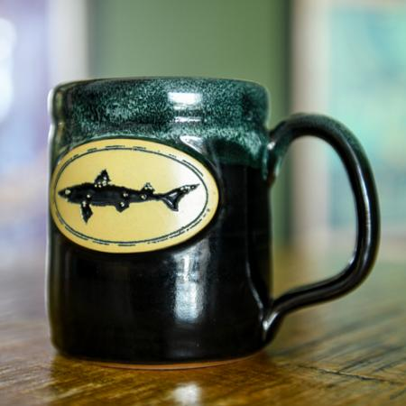 Black Dogfish Stoneware Mug