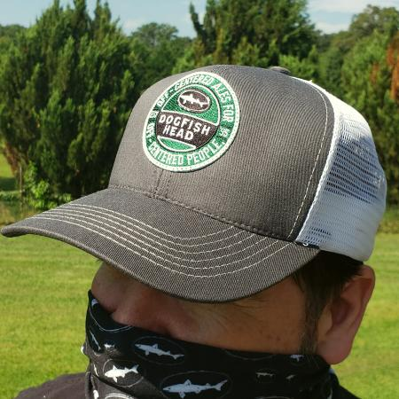 Grey Trucker Circle Patch