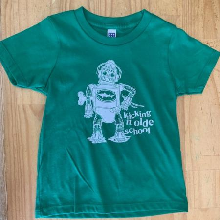 Kids Green Robot Tee