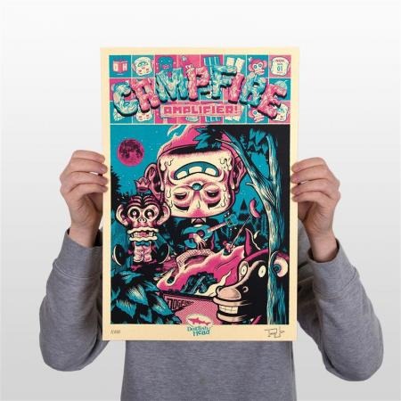 Campfire Amplifier Screenprint