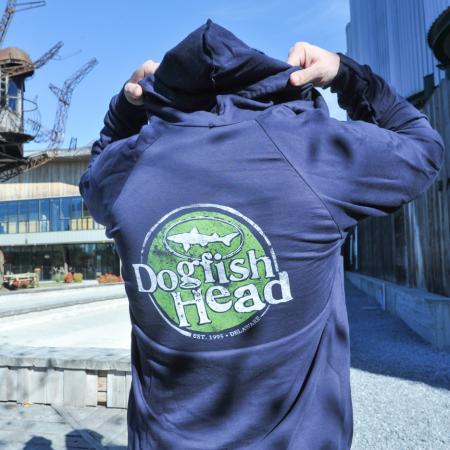 navy vintage zip hoodie 1