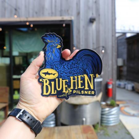 Blue Hen decal