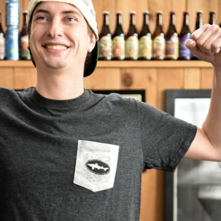 Dogfish Head Charcoal Pocket Tee