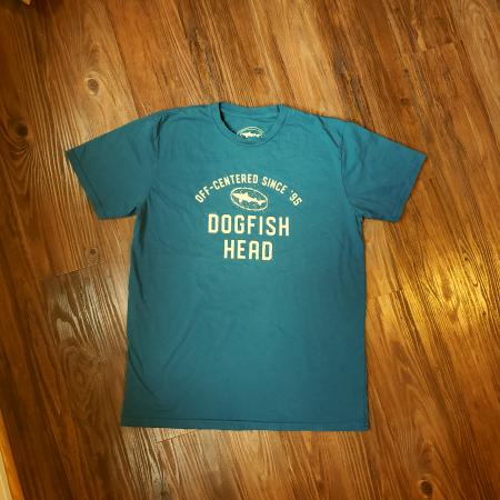 Teal Unisex Tee with Dogfish Head Athletic Style Logo