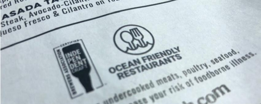 Ocean Friendly Certified restaurants