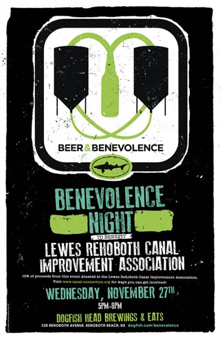 Beer & Benevolence Night to benefit the Lewes Rehoboth Canal Improvement Association