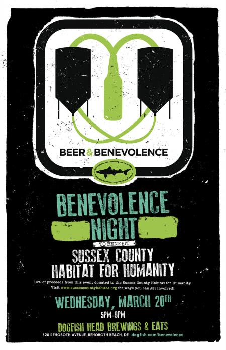 Beer & Benevolence Night to benefit Sussex County Habitat for Humanity