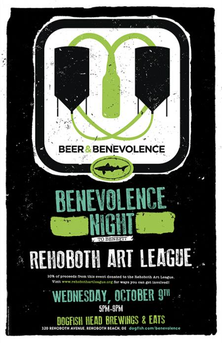 Beer & Benevolence Night to benefit the Rehoboth Art League