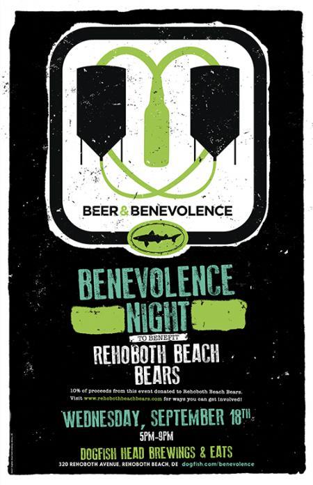 Beer & Benevolence Night to benefit the Rehoboth Beach Bears