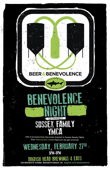 Beer & Benevolence Night to benefit Sussex Family YMCA