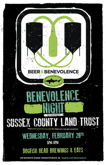 Beer & Benevolence Night to benefit Sussex County Land Trust