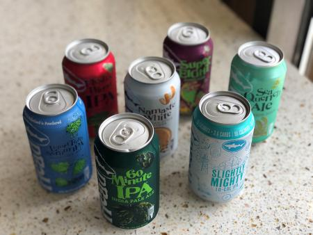 Lineup of Cans