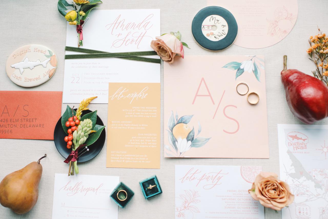 Off-Centered Wedding Invites