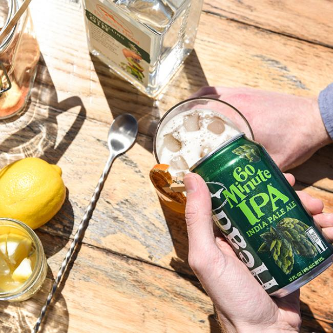 The 60 Minute Man beer cocktail with Compelling Gin and 60 Minute IPA