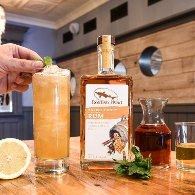 Rum Mint Tea with Barrel Honey Rum