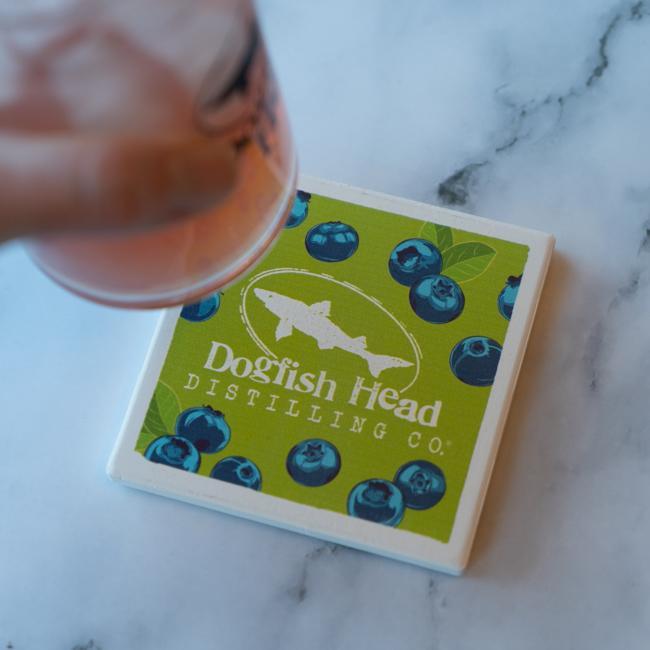 Blueberry Shrub Coaster