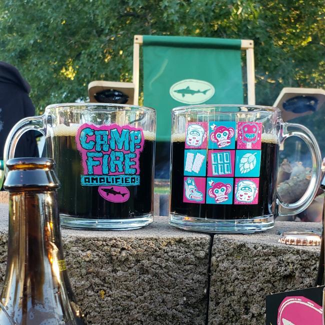 Campfire Amplifier Glass Mug