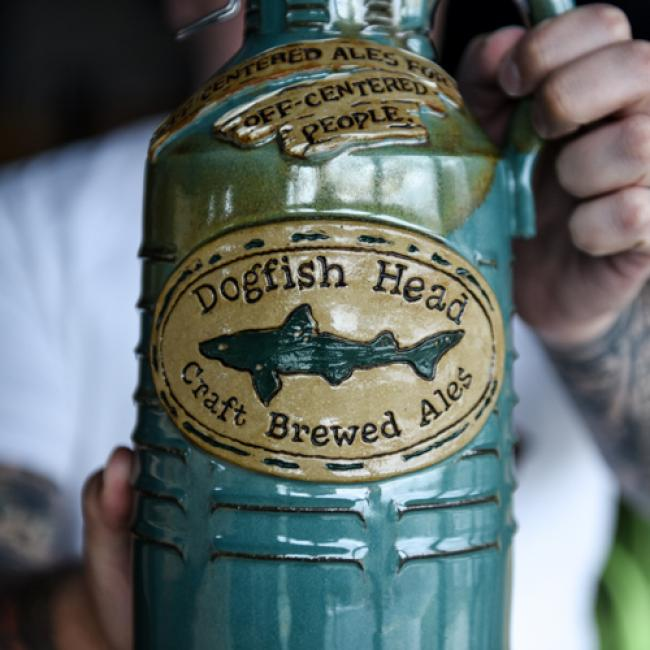 Coastal Blue Ceramic Growler Dogfish Head Craft Brewed Ales Off Centered Stuff For