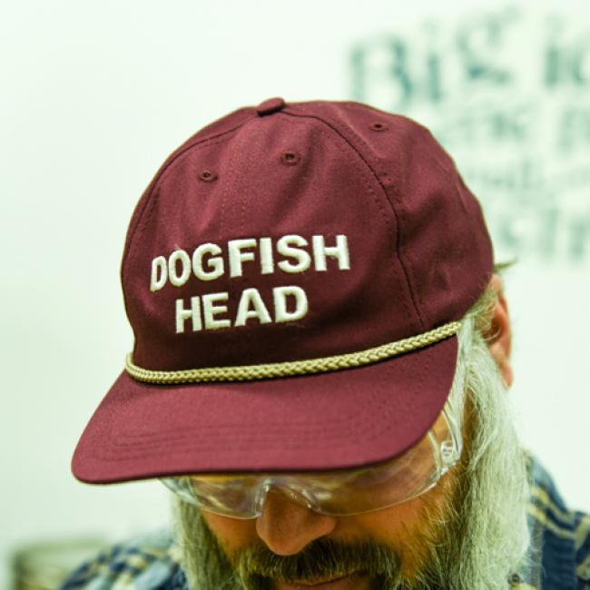Dogfish Head Burgundy Cap