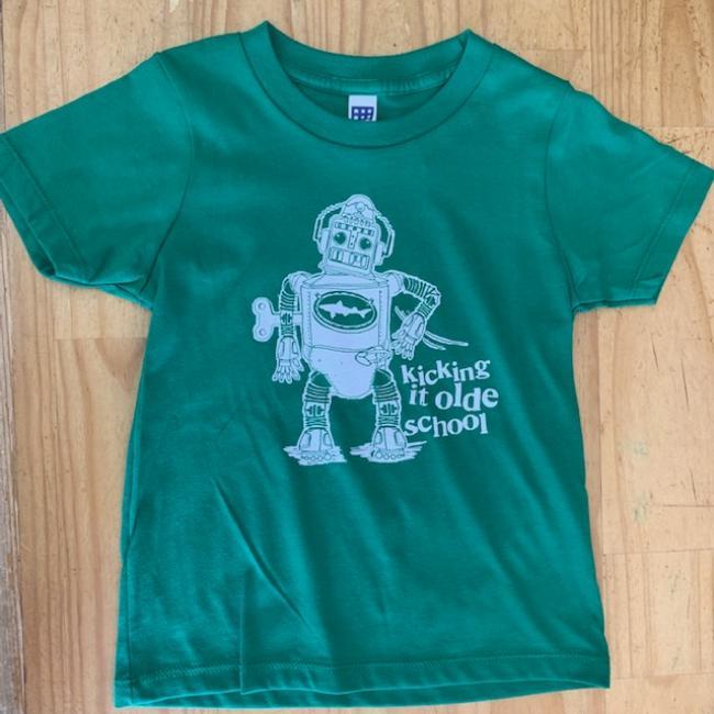 Kids Green Robot Tee