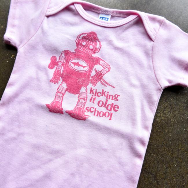 Pink Robot Onesie