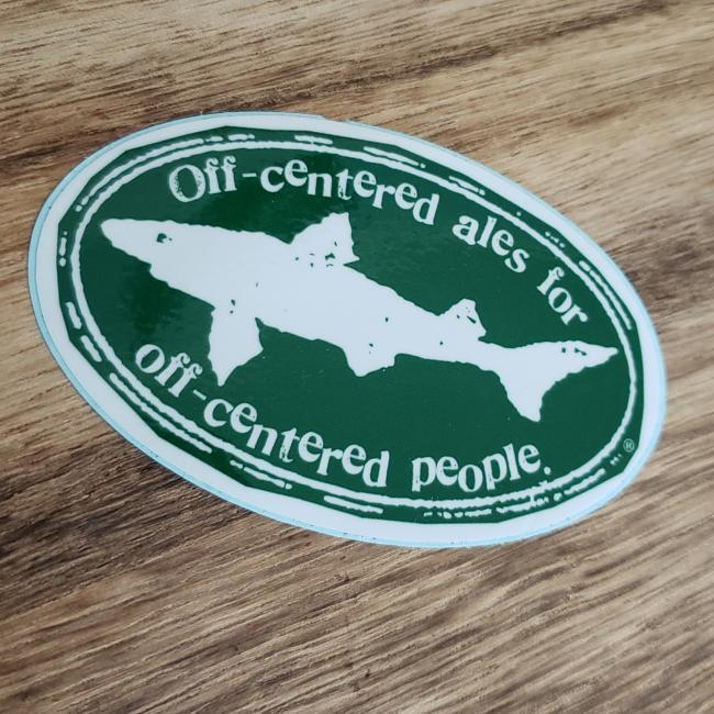 Off Centered Sticker