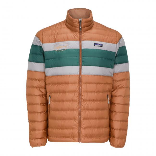 Men's Stripe Down Jacket Front