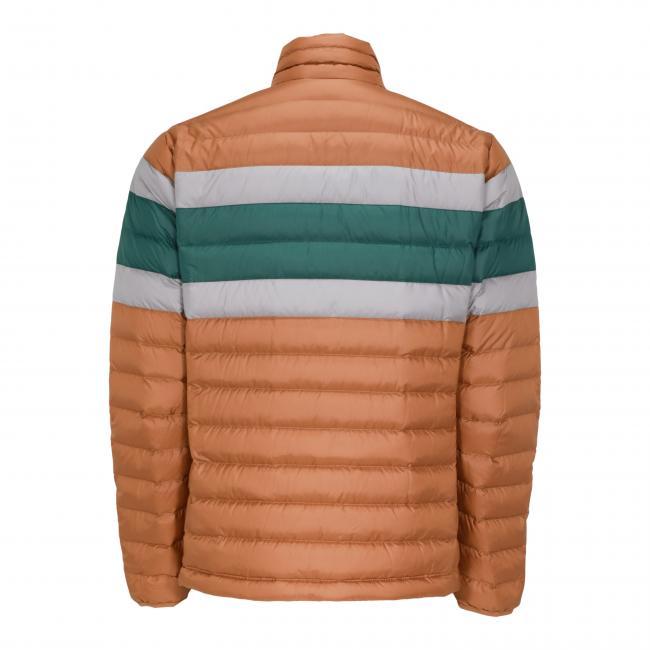 Men's Stripe Down Jacket Back