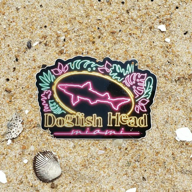 Miami Neon Theme Sticker