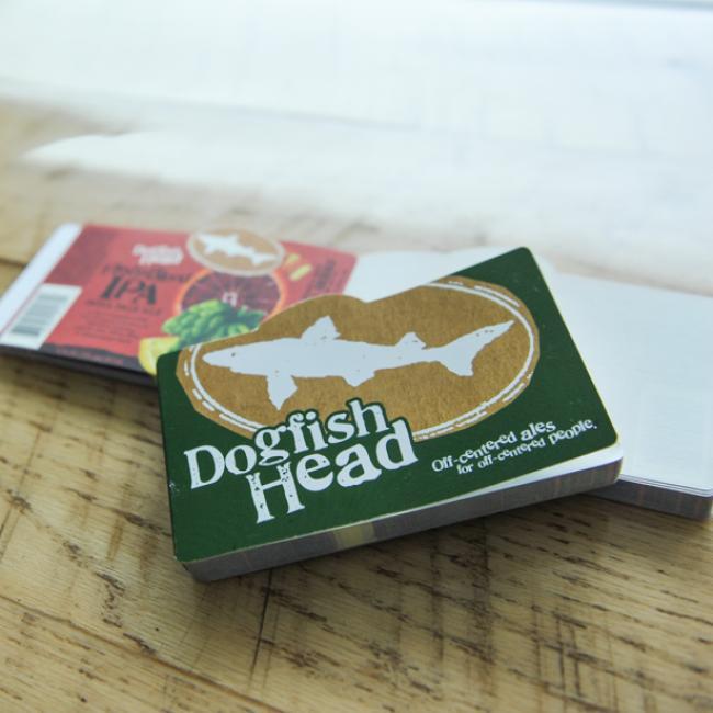 Beer Label Note Pad