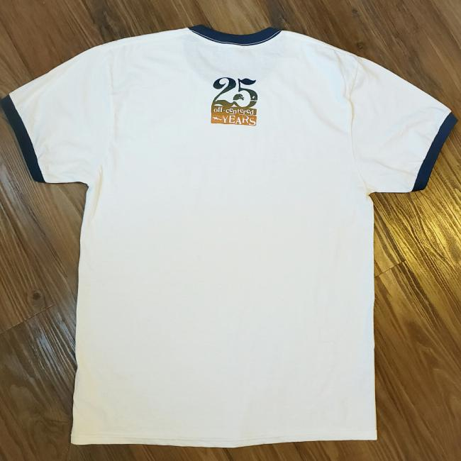 25th Anniversary Tee back design