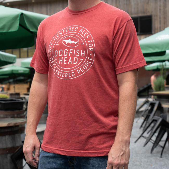 Red heather tee