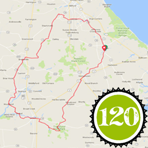 About I Pedal Alot 120k route