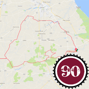 About I Pedal Alot 90k route